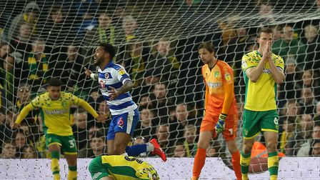 It was despair for Norwich City keeper Tim Krul and skipper Christoph Zimmermann, as Reading snatche