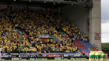 Just short of 4,500 Norwich City fans made the trip to Wigan for the opening day of the Premier Leag
