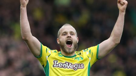 The expression says it all, as Teemu Pukki celebrates during Norwich City's 4-0 QPR win. Picture: Pa