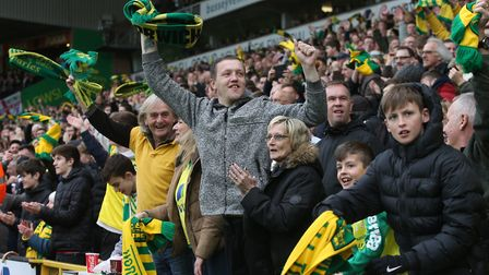 Norwich City fans were in good voice at Carrow Road Picture: Paul Chesterton/Focus Images Ltd