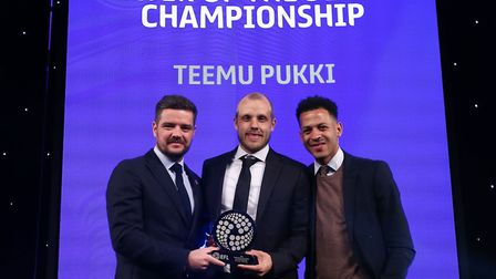 Norwich City and Finland striker Teemu Pukki is named Championship player of the year at the EFL Awa
