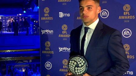 Norwich City full-back Max Aarons picked up the EFL young player of the year award after a stunning