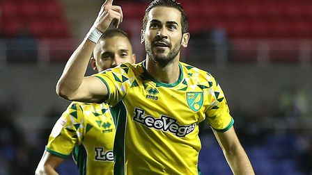 Mario Vrancic scored the winner as Norwich won 2-1 at Reading in September Picture: Paul Chesterton/
