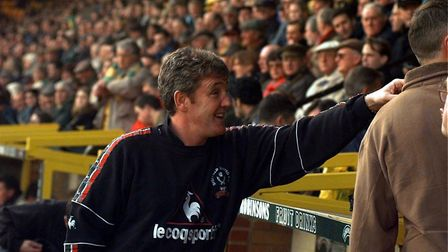 Steve Bruce made his first return to Norwich City as a manager with Sheffield United in 1998 Picture