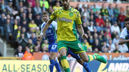 Mario Vrancic scored a rare penalty for Norwich City in the home win over Wigan Picture: Paul Cheste