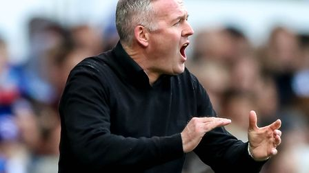 Ipswich Town manager Paul Lambert on the touchline during his team's game against Birmingham at Port