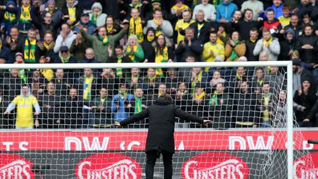 Norwich City head coach Daniel Farke says thank you to the huge army of travelling Canaries fans at