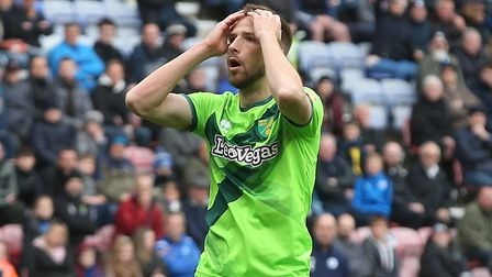 Marco Stiepermann rues a missed chance at the DW Stadium