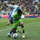 Onel Hernandez didn't have his best afternoon in a Norwich City shirt against Wigan. Picture: Paul C