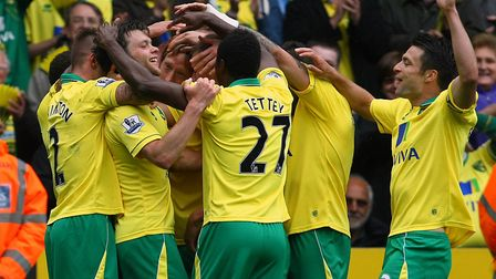 Jonny Howson's strike sealed a 4-0 home win over West Brom in May 2013 as Norwich City secured Premi