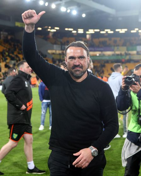 Norwich City head coach Daniel Farke savours Championship promotion Picture: Paul Chesterton/Focus I