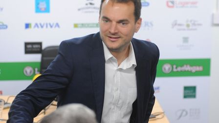 Sporting director Stuart Webber greeted the media at Colney for City's promotion debrief Picture: To