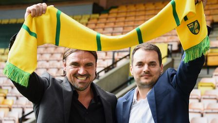Who dares wins... Sporting director Stuart Webber after the appointment of Daniel Farke as Norwich C