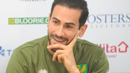 Mario Vrancic spoke to the media at Colney about his key role in Norwich City's promotion Picture: T