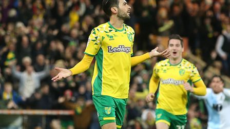 Mario Vrancic celebrates his brilliant long-range strike against Blackburn Picture: Paul Chesterton/