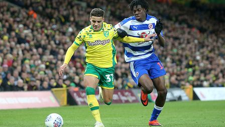 Max Aarons battles with Reading's Ovie Ejaria Picture: Paul Chesterton/Focus Images Ltd