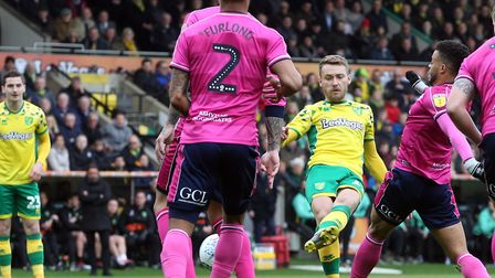 Tom Trybull knows he has a massive chance to reach the Premier League with Norwich City Picture: Pau