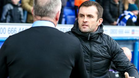 Stoke City manager Nathan Jones is looking to add goals Picture: Steve Waller