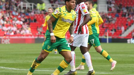 Onel Hernandez fired Norwich City in front at Stoke City Picture: Paul Chesterton/Focus Images Ltd