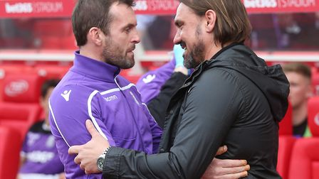 Daniel Farke fears Tom Trybull's season could be over after picking up an ankle injury Picture: Paul