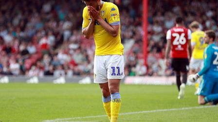Leeds and Tyler Roberts couldn't keep up the Championship pace Picture: PA
