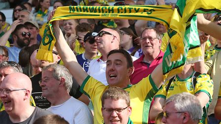 It's nearly celebration time for Norwich City's supporters Picture: Paul Chesterton/Focus Images
