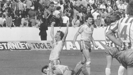 Norwich City celebrated a late Keith Bertschin goal at Sheffield Wednesday in 1986 but ended up losi