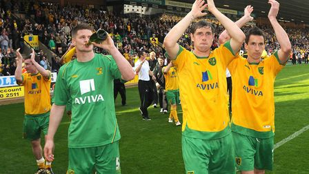 The Canaries sealed the League One title by beating Gillingham at Carrow Road in 2010 Photo: Simon F
