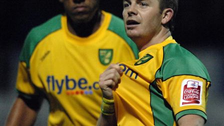 Jamie Cureton was desperate to well during his second spell at Norwich City Picture: Ashley Pickerin