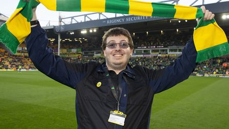 Jacob Bowles was named Norwich City fan of the Season before the 2-2 draw with Sheffield Wednesday a