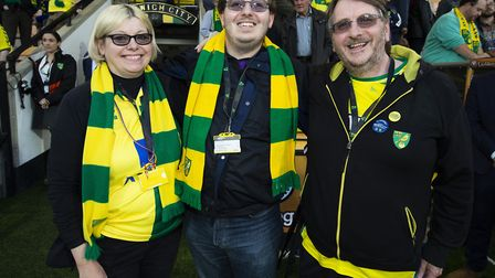 Jacob Bowles, pictured with proud parents Sharon and Andy, was named Norwich City fan of the Season
