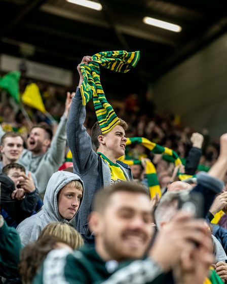Norwich City fans made plenty of noise at Carrow Road on Friday Picture: Matthew Usher/Focus Images