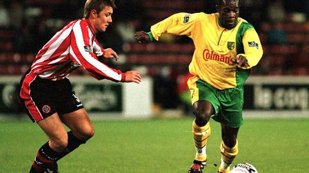 Adrian Forbes in action during his playing days for Norwich City Picture: Archant library