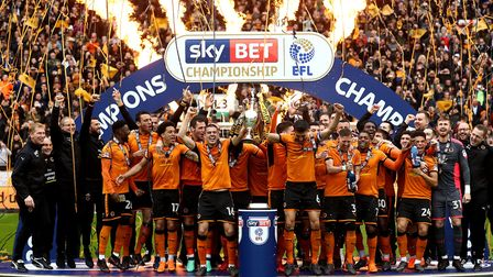 Wolves lifted the Championship trophy in 2018 Picture: Tim Goode/PA