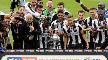 Newcastle were the Championship champions in 2017 Picture: Owen Humphreys/PA