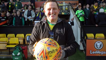 On the ball - Spud Thornhill hopes to be beaming again before he heads off to London Picture: Paul C