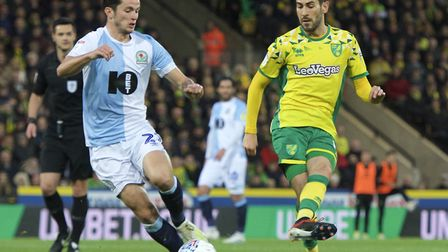 Mario Vrancic was a key player for Norwich City during the win win over Blackburn Picture: Alan Stan