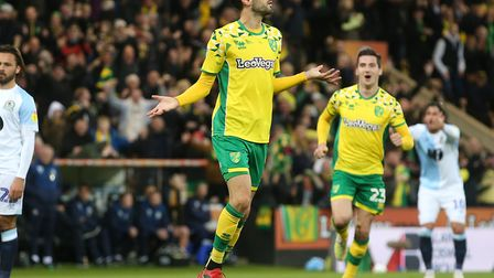 Mario Vrancic scored a special first half goal for Norwich City against Blackburn Rovers Picture: Pa
