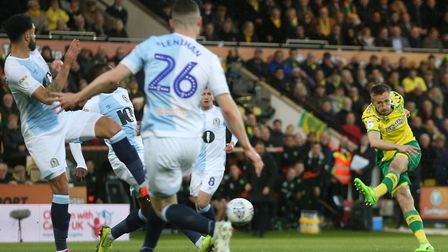 Marco Stiepermann set Norwich City on the way to clinching Premier League promotion Picture: Paul Ch