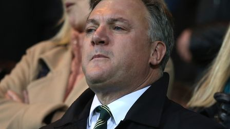 Ed Balls was at Carrow Road to watch Norwich City clinch promotion Picture: Paul Chesterton/Focus Im