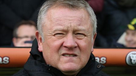 Sheffield United manager Chris Wilder is ready for a title battle with Norwich City Picture by Paul