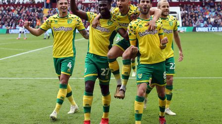 Mario Vrancic of Norwich celebrates scoring his sides 2nd goal during the Sky Bet Championship match