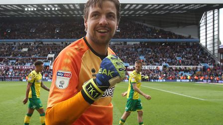 Tim Krul's expression says it all, as Norwich City beat Aston Villa at Villa Park to claim the Sky B