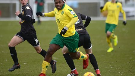 Pierre Fonkeu's time at Norwich City has come to an end Picture: ANTONY KELLY