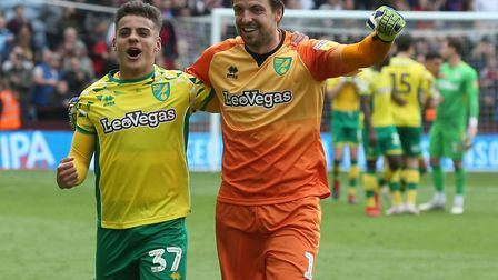 Max Aarons has had the time of his life in his first season of senior action at Norwich City. Pictur