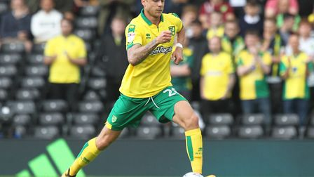 Marcel Franke in action for Norwich City at Fulham on the opening day of the 2017=18 season Picture: