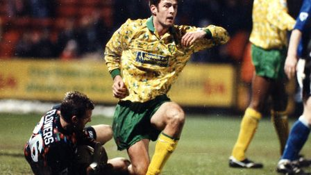 Chris Sutton scored 25 goals for Norwich City during the 1993-94 season Picture Archant library