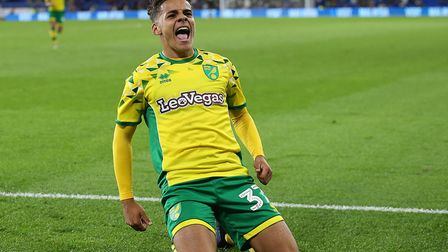Max Aarons wearing a Norwich City shirt sponsored by LeoVegas. Picture: Paul Chesterton/Focus Images