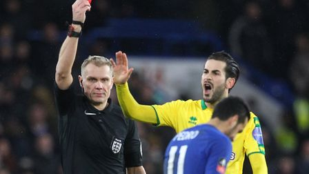 VAR was in use during Norwich City's penalty shoot-out defeat at Chelsea in the FA Cup in January 20