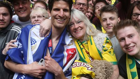 Timm Klose has taken Norwich City to his heart. And the feeling is mutual with City fans Picture: Pa